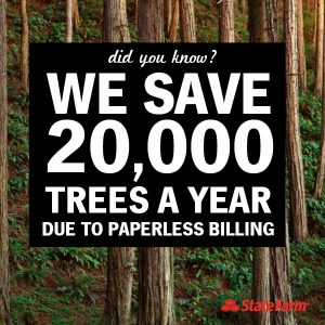 going paperless save trees