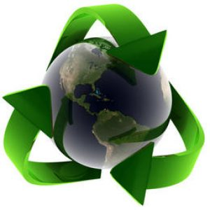 Is your company about to embrace green business practices? reduce reuse recycle earth logo