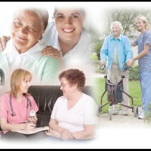 photo collage showcasing modern senior healthcare of women