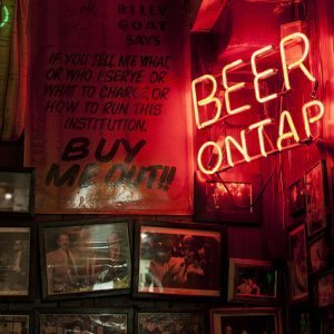 taproom beer on tap sign behind bar