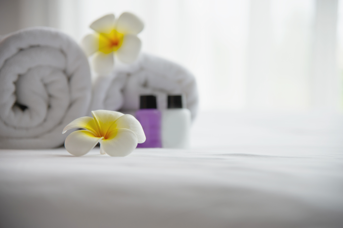 Sustainable hotel practices start small, like presenting guests with recyclable shampoo and conditioner bottles