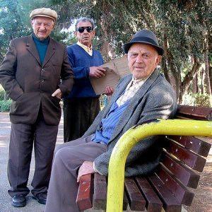 senior citizens the gentleman in park