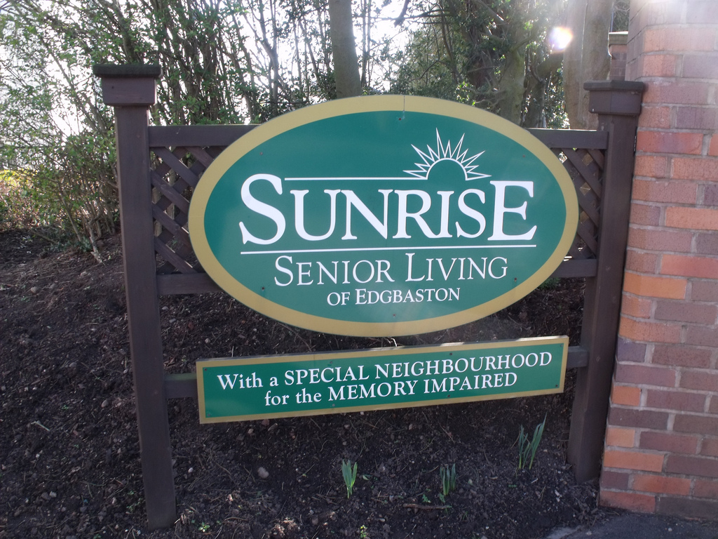 sunrise senior housing sign