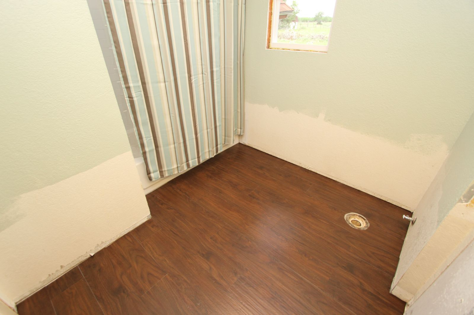 vinyl plank flooring example bathroom pre tub install