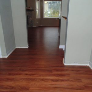 vinyl plank flooring in home