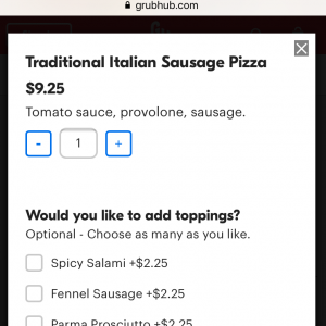 Consider using a service like grub-hub as part of a restaurant to-go ordering system.