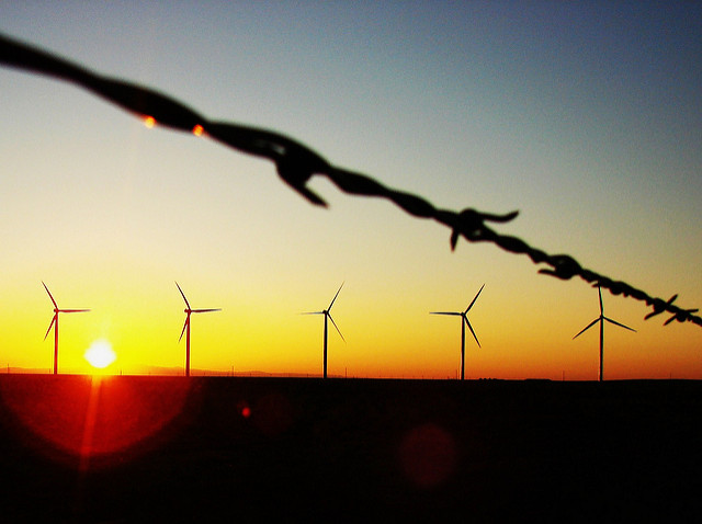 wind turbines support sustainable business sunrise to sundown