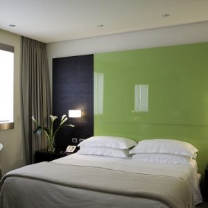 One way to beat hotel competition is with room upgrades - a new coat of paint can go a long way in modernizing a room!