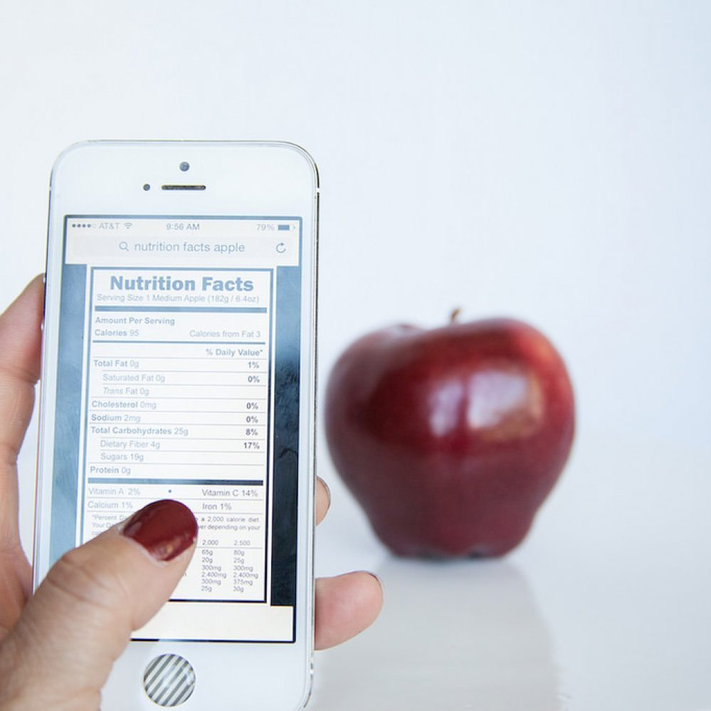 healthcare mobile apps for iphone and red apple