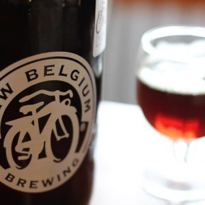 sustainable brewing new belgium beer bottle and glass