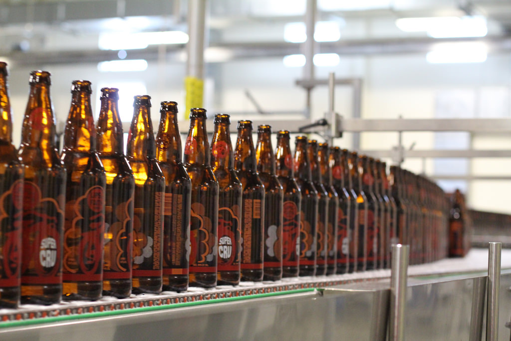 sustainable brewing bottling conveyor line new belgium brewing