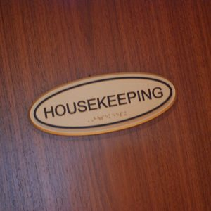 housekeeping tips housekeeping door plaque