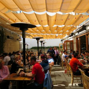year-round outdoor dining