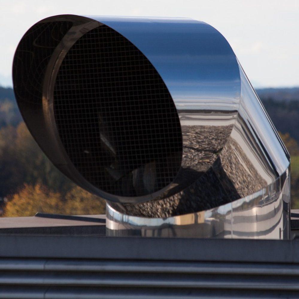 make up air unit exhaust vent