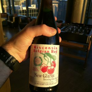 wisconsin craft beer new glarus belgian red bomber bottle