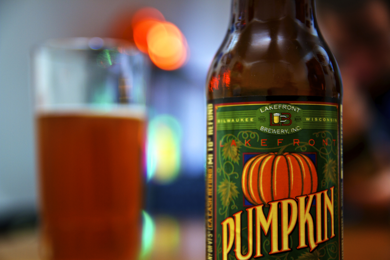 Pumpkin ale from Lakefront Brewery is a Fall staple in the craft beer community