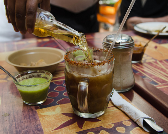 Spicy beer originated from the traditional Mexican drink, the michelada