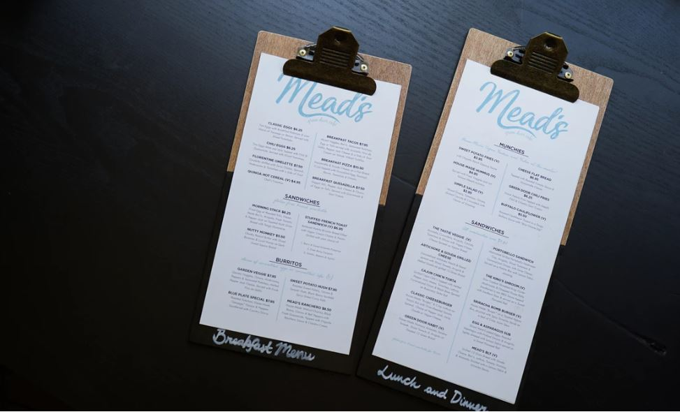 When creating a restaurant menu, you want to stand out against the competition