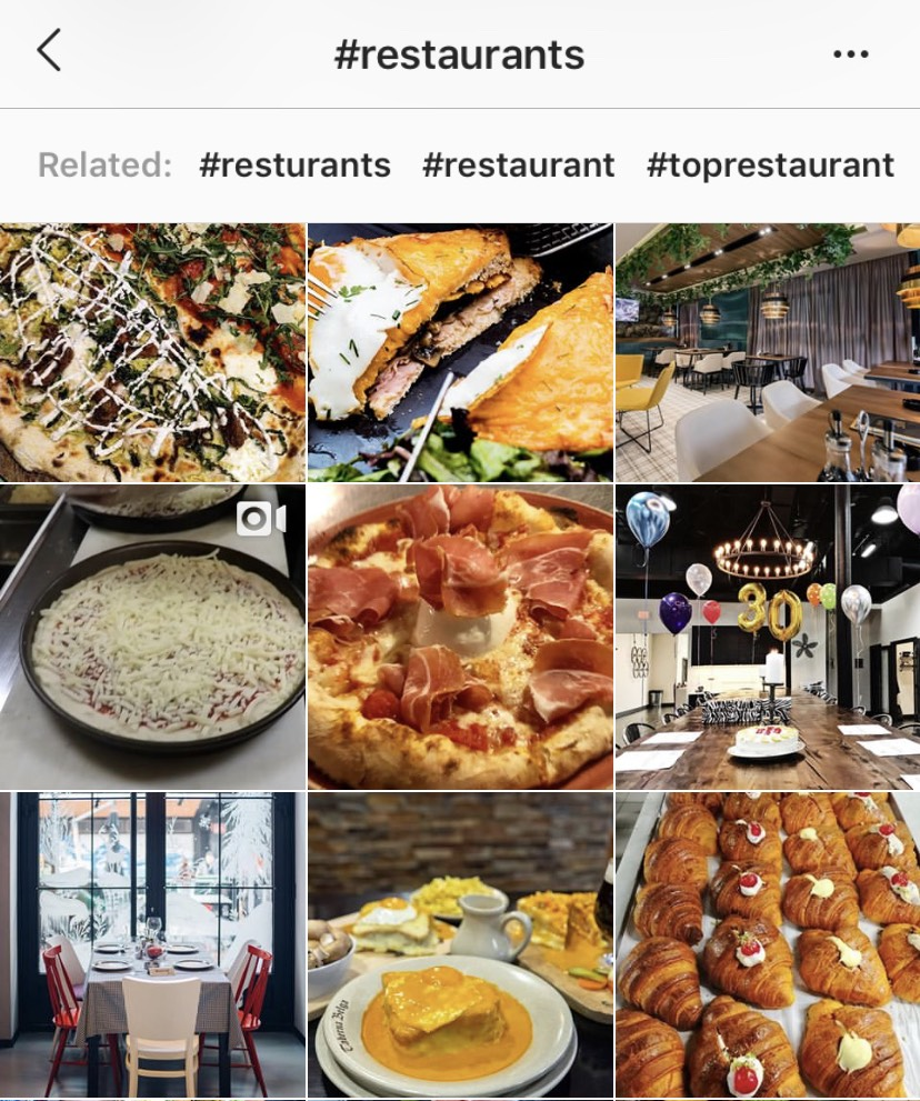 hashtags on social media are a popular way customers find new places to dine