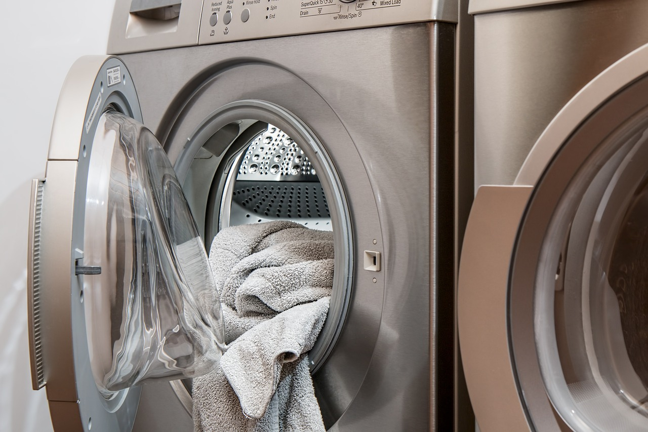 Washing machine and dyer in an apartment