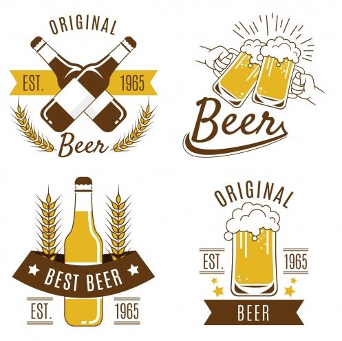 These various beer logos show the different ways beer and brewery branding can take shape