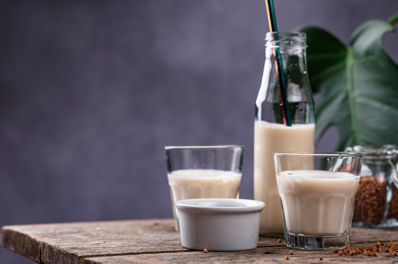 Plant-based milk, like palm leaf milk, is a great non-dairy alternative to cow's milk and a great plant-based protein