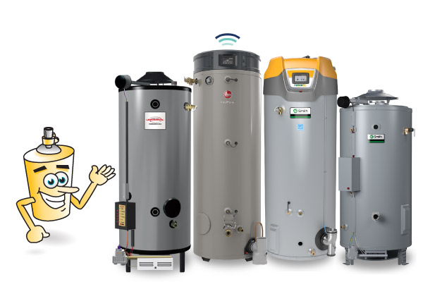 commercial tank type water heaters