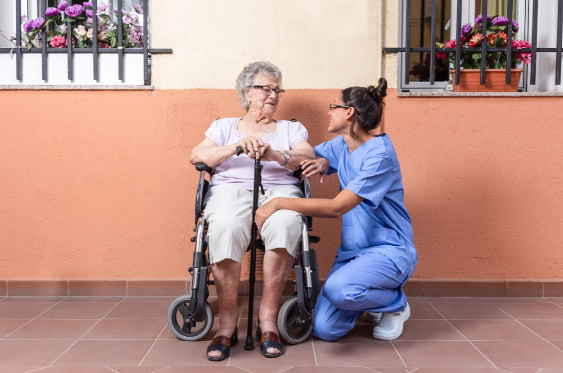 the key to finding great staff for senior care is to find those who love to spread happiness to residents.